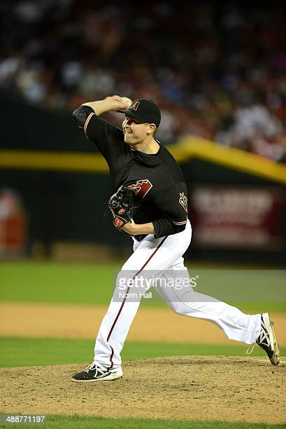 Trevor Cahill of the Arizona Diamondbacks delivers a pitch against the Philadelphia Phillies at Chase Field on April 26 2014 in Phoenix Arizona