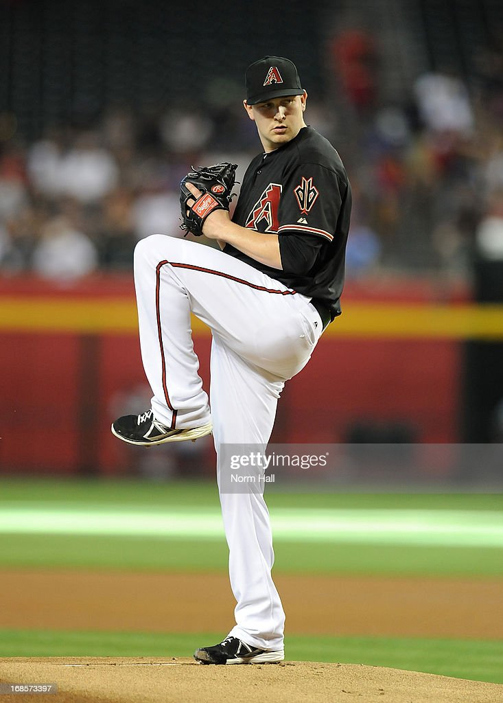 <a gi-track='captionPersonalityLinkClicked' href=/galleries/search?phrase=Trevor+Cahill&family=editorial&specificpeople=5437061 ng-click='$event.stopPropagation()'>Trevor Cahill</a> #35 of the Arizona Diamondbacks delivers a pitch in the first inning against the Philadelphia Phillies at Chase Field on May 11, 2013 in Phoenix, Arizona.
