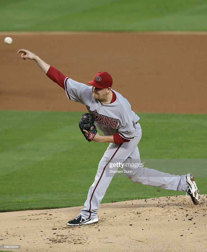 <a gi-track='captionPersonalityLinkClicked' href=/galleries/search?phrase=Trevor+Cahill&family=editorial&specificpeople=5437061 ng-click='$event.stopPropagation()'>Trevor Cahill</a> #35 of the Arizona Diamondbacks throws a pitch against the Los Angeles Dodgers at Dodger Stadium on May 6, 2013 in Los Angeles, California.