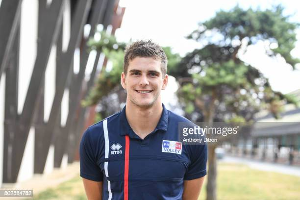 Trevor Clevenot of France during a training session of the French volleyball national team on June 28 2017 in Vincennes France