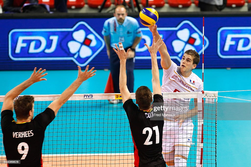 Trevor Clevenot of France during FIVB World League 2016 between France and Belgium on July 1, 2016 in Nancy, France.