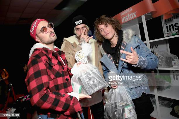 Trevor Dahl Kevin Ford and Matthew Russell of Cheat Codes attend the Z100's Jingle Ball 2017 GIFTING LOUNGE on December 8 2017 in New York City
