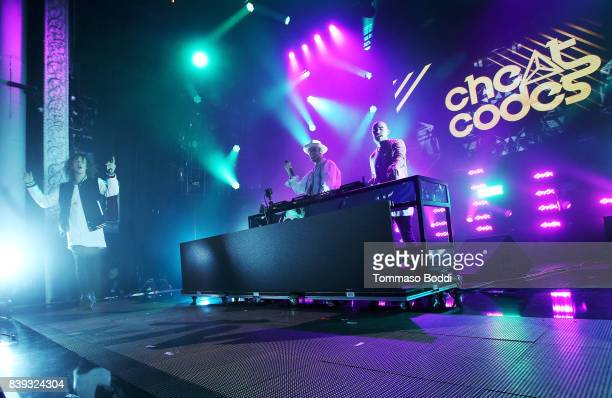 Trevor Dahl Kevin Ford and Matthew Russell of Cheat Codes perform onstage during MTV Presents 'VMA Weekend' at Avalon on August 25 2017 in Hollywood...