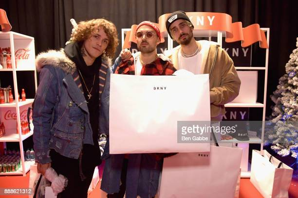 Trevor Dahl Kevin Ford Matthew Russell of Cheat Codes attend the DKNY gift lounge at Jingle Ball on December 8 2017 in New York City