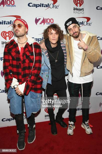 Trevor Dahl Matthew Russell and Kevin Ford of Cheat Codes attend Z100's Jingle Ball 2017 on December 8 2017 in New York City