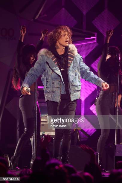 Trevor Dahl of Cheat Codes performs onstage during Z100's iHeartRadio Jingle Ball 2017 at Madison Square Garden on December 8 2017 in New York City