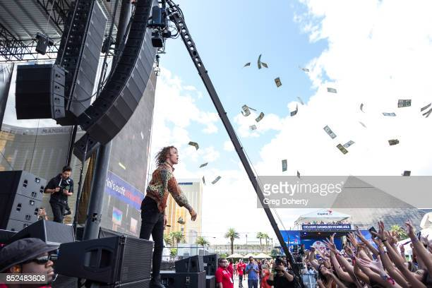 Trevor Dahl of Cheat Codesi performs at the 2017 Daytime Village At The iHeartRadio Music Festival at TMobile Arena on September 23 2017 in Las Vegas...