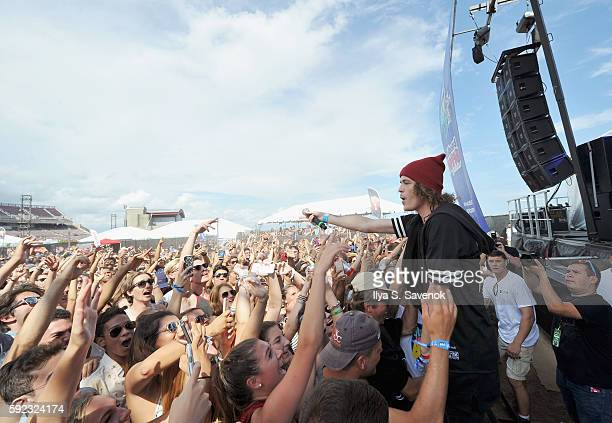 Trevor Dahl of the Cheat Codes perform during the 2016 Billboard Hot 100 Festival Day 1 at Nikon at Jones Beach Theater on August 20 2016 in Wantagh...