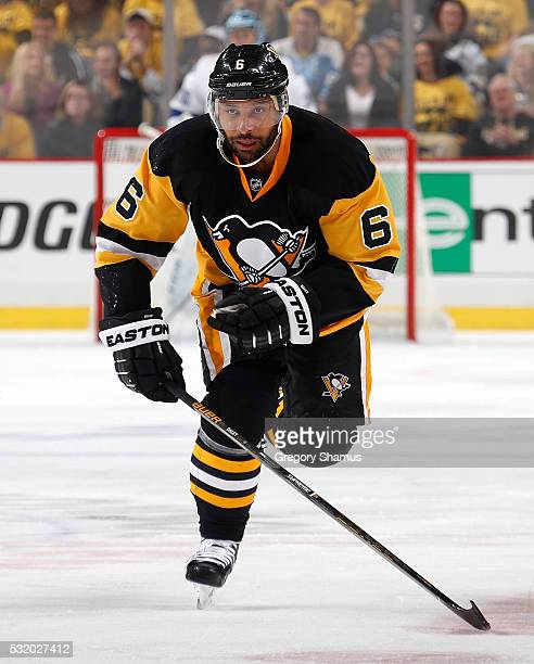 Trevor Daley of the Pittsburgh Penguins skates against the Tampa Bay Lightning in Game One of the Eastern Conference Final during the 2016 NHL...