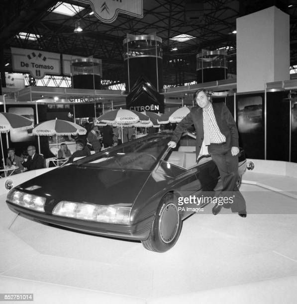 Trevor Fiore of Sheffield at today's press preview of the International Motor Show at the National Exhibition Centre in Birmingham with the...