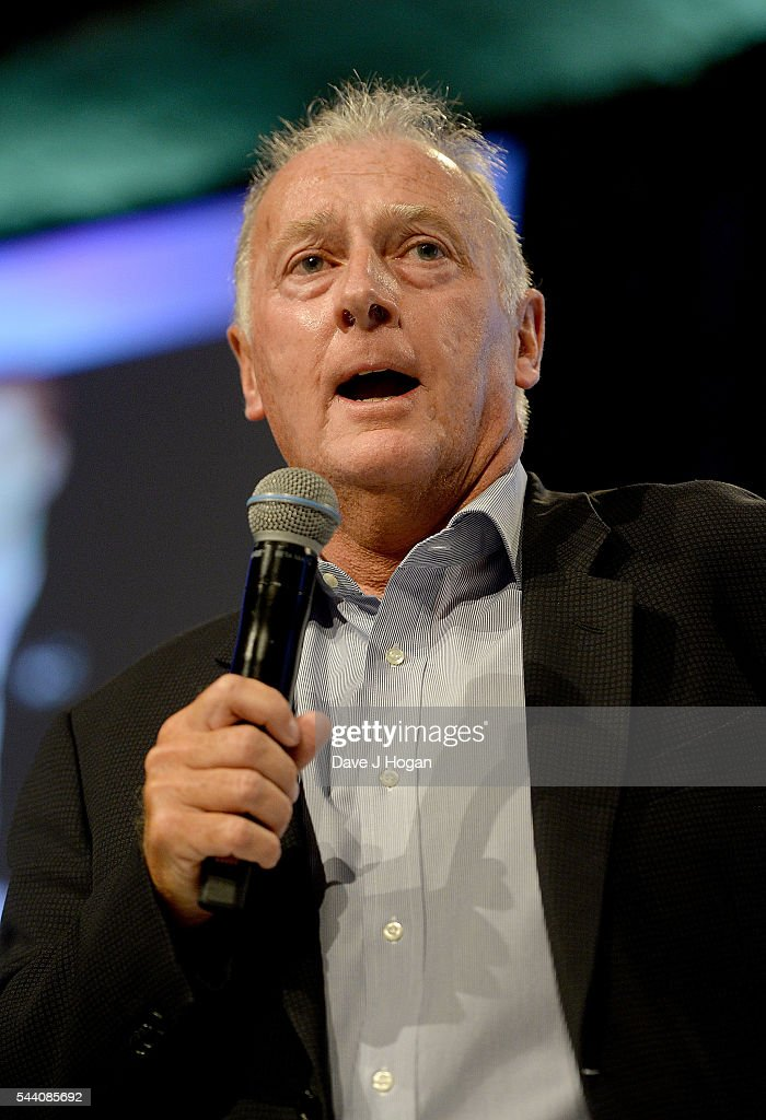 Trevor Francis on stage during the Nordoff Robbins O2 Silver Clef Awards on July 1, 2016 in London, United Kingdom.