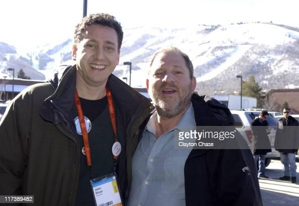 Trevor Groth and Harvey Weinstein during 2007 Sundance Film Festival 'The Future is Unwritten' QA at Kimball Art Center in Park City Utah United...