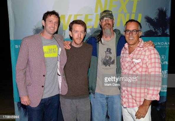Trevor Groth Chris Smith Mark Borchardt and John Cooper pose at the Sundance Institute's Next Weekend Film Festival KickOff Party held at the...