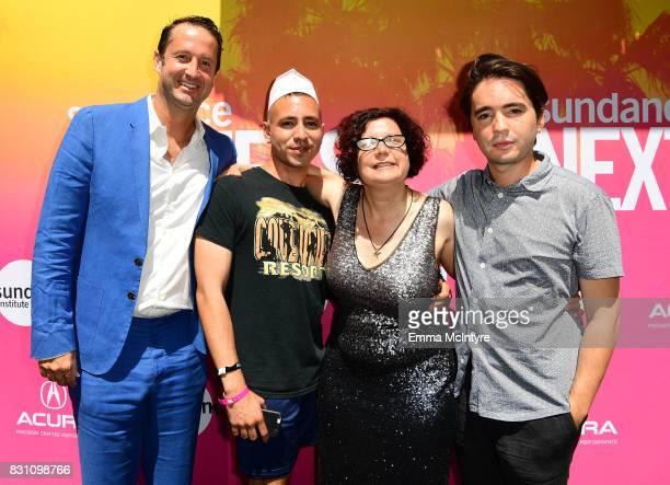 Trevor Groth Director of Programming at Sundance Film Festival filmmaker Antonio Santini Dina Buno and filmmaker Dan Sickles attend 2017 Sundance...