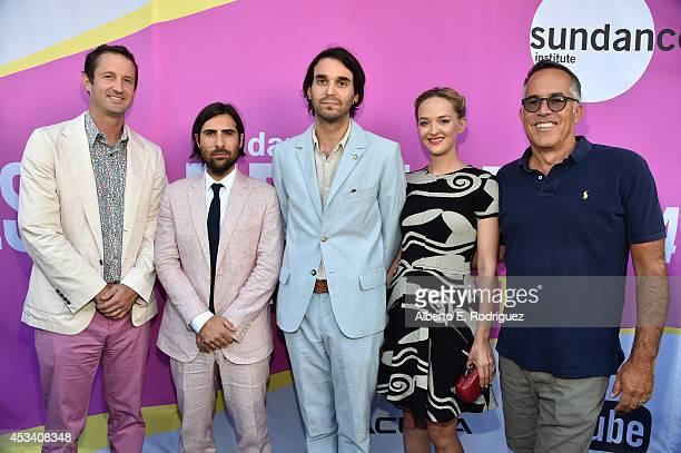 Trevor Groth Director of Programming of Sundance Film Festival actor Jason Schwartzman director Alex Ross Perry actress Jess Weixler and John Cooper...