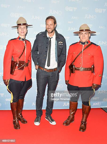 Trevor Guthrie arrives at the 2015 Juno Awards at FirstOntario Centre on March 15 2015 in Hamilton Canada