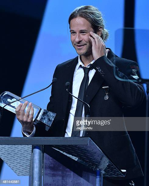 Trevor Guthrie wins Dance Recording of the Year for This is What It Feels Like at the Juno Awards Gala on March 29 2014 in Winnipeg Canada