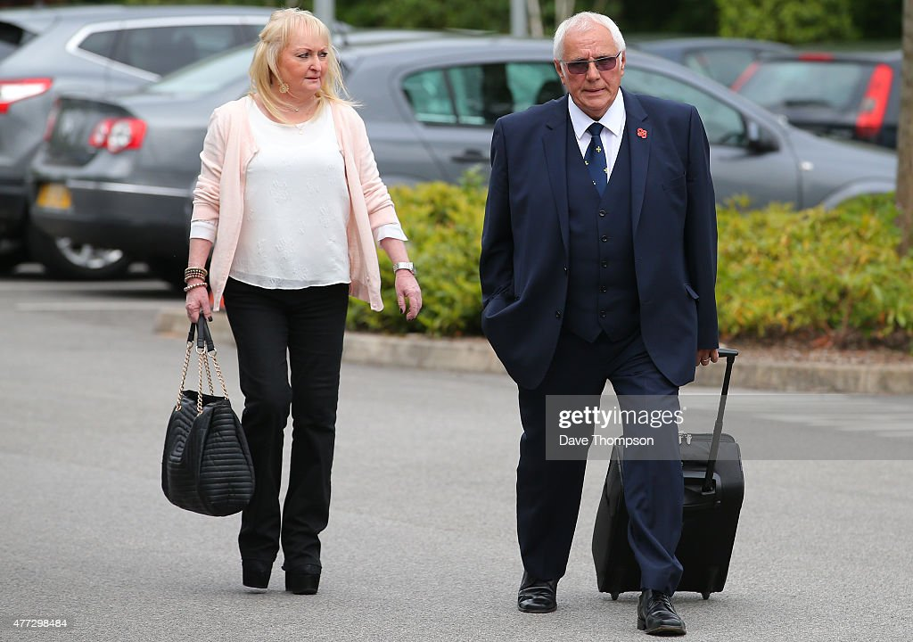<a gi-track='captionPersonalityLinkClicked' href=/galleries/search?phrase=Trevor+Hicks&family=editorial&specificpeople=9500379 ng-click='$event.stopPropagation()'>Trevor Hicks</a> and his former wife Jenni Hicks arrive at the Hillsborough Inquest at the specially adapted office building in Birchwood Park on June 16, 2015 in Warrington, England. Their daughters, Sarah and Victoria Hicks, died along with 96 other Liverpool fans during an FA Cup semi-final on April 15, 1989.