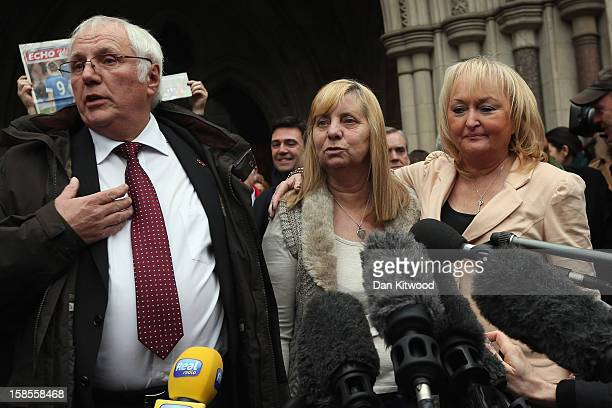 Trevor Hicks of the Hillsborough Family Support Group and his former wife Jenni Hicks who lost their two teenage daughters Sarah and Victoria in the...