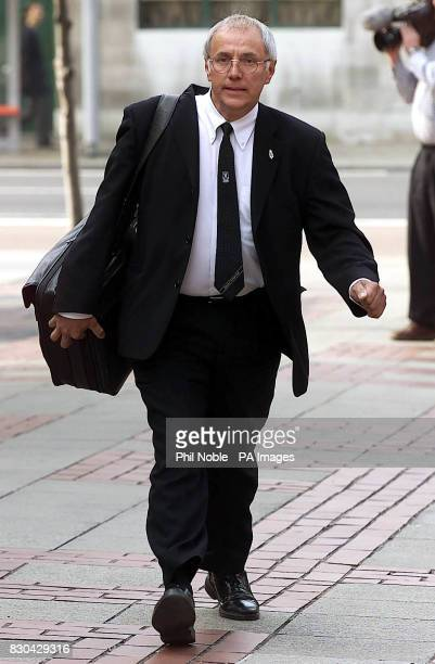 Trevor Hicks who lost two daughters during the Hillsborough disaster arrives at Leeds Crown Court to hear the fate of former Chief Superintendent of...