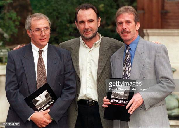 Trevor Hicks whose two teenage daughters were victims of the 1989 Hillsborough disaster with Eddie Spearritt who lost his 14yearold son and Jimmy...