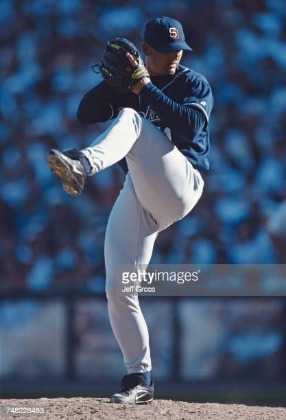 Trevor Hoffman pitcher for the San Diego Padres during the Major League Baseball National League West game against the San Francisco Giants on 30...