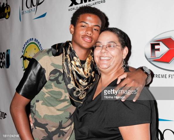 Trevor Jackson and his mother...