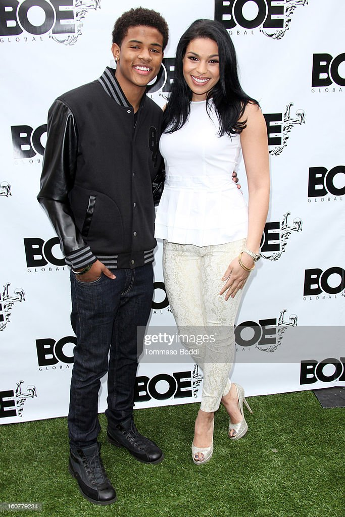Trevor Jackson (L) and Jordin Sparks attend the 1st Annual Grammy Producers Brunch honoring Rodney Jerkins held at Xen Lounge on February 5, 2013 in Los Angeles, California.