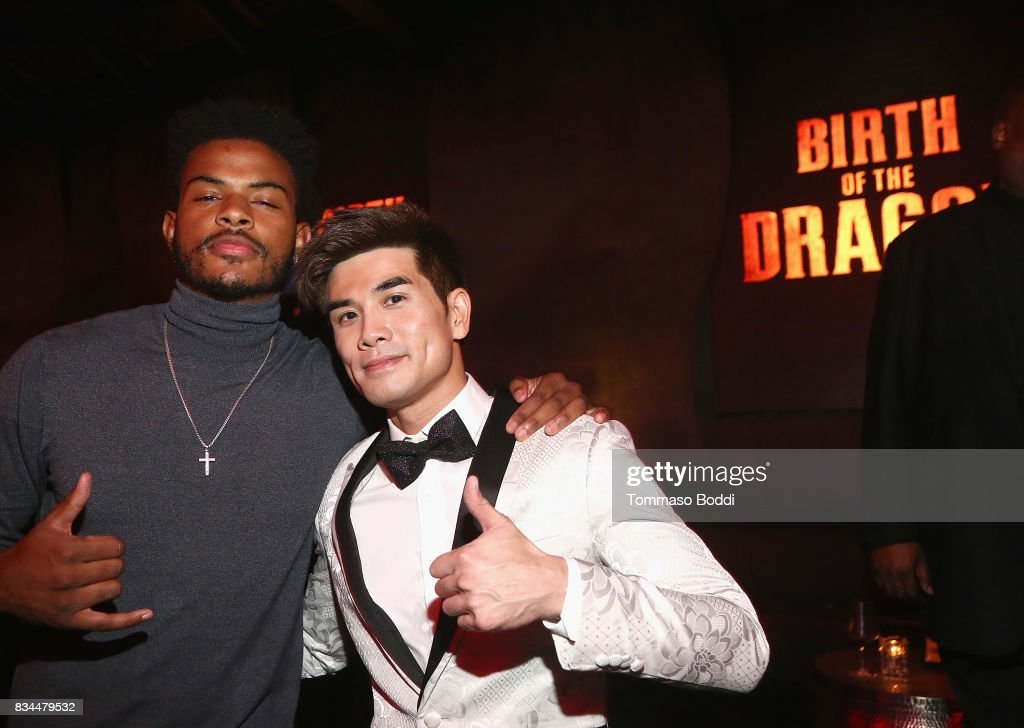 Trevor Jackson and Phillip Ng attend the special screening WWE Studios' 'Birth Of The Dragon' After Party on August 17, 2017 in Hollywood, California.