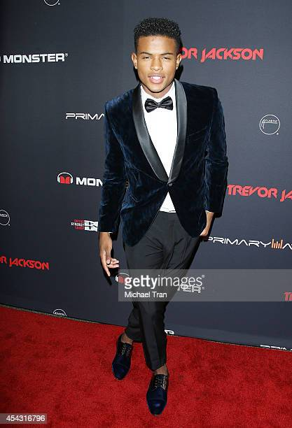 Trevor Jackson arrives at his Monster 18th birthday party held at El Rey Theatre on August 28 2014 in Los Angeles California