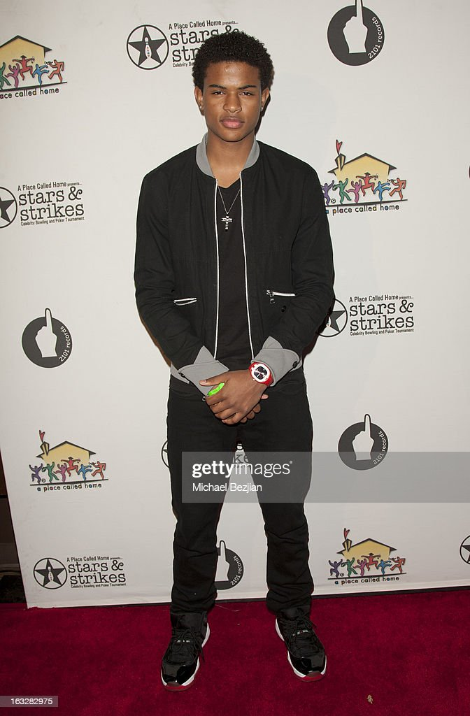 Trevor Jackson attends 7th Annual 'Stars & Strikes' Celebrity Bowling And Poker Tournament Benefiting A Place Called Home at PINZ Bowling & Entertainment Center on March 6, 2013 in Studio City, California.