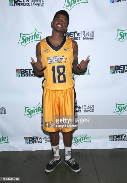 Trevor Jackson poses backstage at the Celebrity Basketball Game presented by Sprite and State Farm during the 2017 BET Experience at Staples Center...