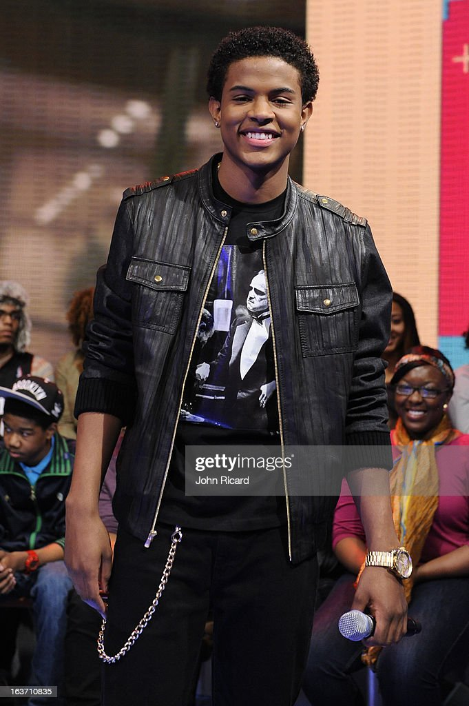 Trevor Jackson visits BET's '106 & Park' at BET Studios on March 14, 2013 in New York City.