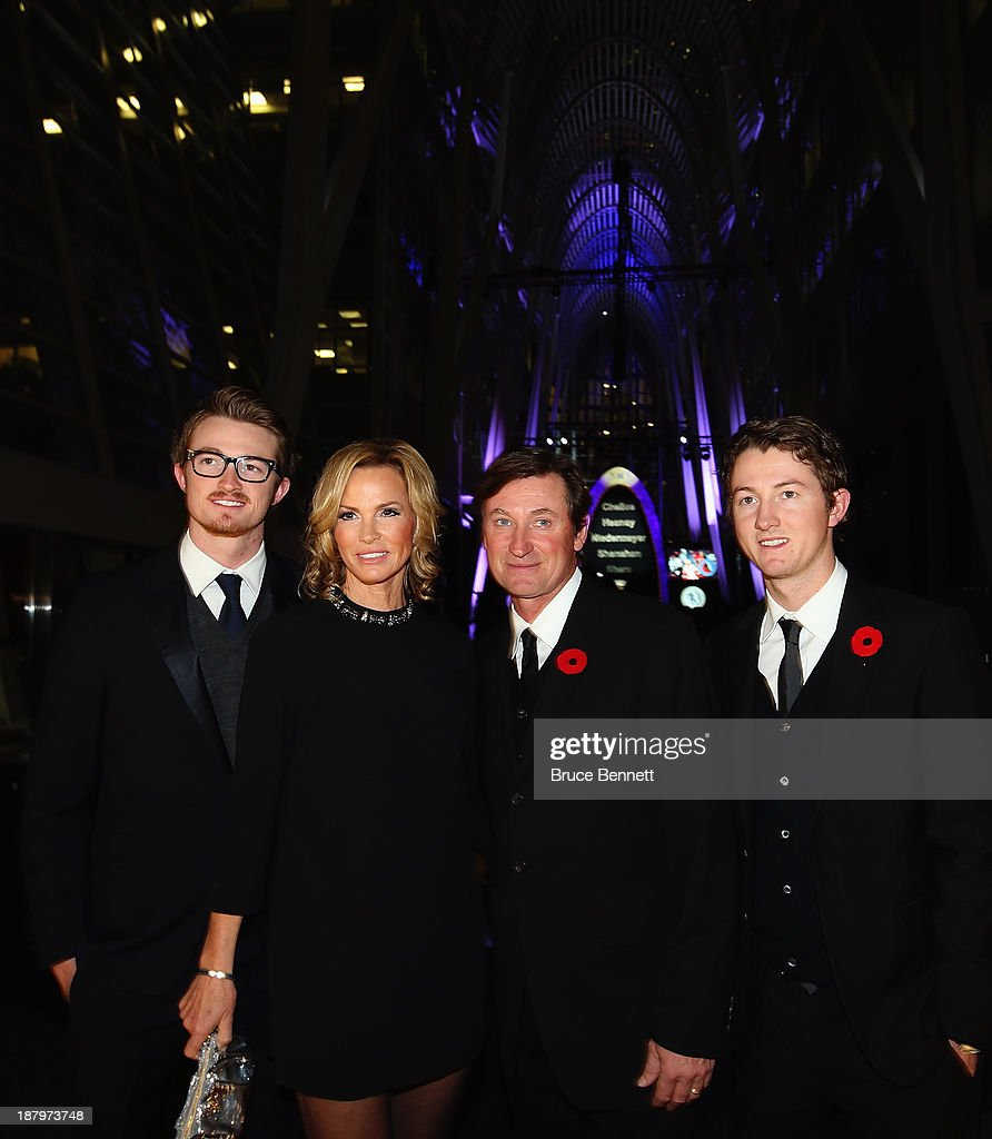 Trevor, Janet, Wayne and Ty Gretzky walk the red carpet prior to the 2013 Hockey Hall of Fame induction ceremony on November 11, 2013 in Toronto, Canada.