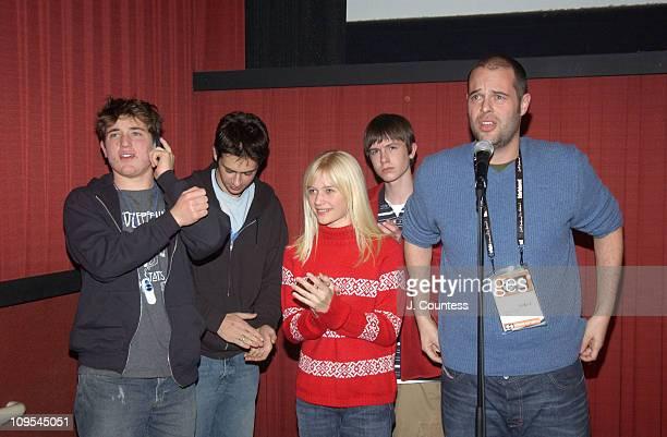 Trevor Morgan Scott Mechlowicz Carly Schroeder Ryan Kelley and Jacob Aaron Estes writer/director of 'Mean Creek'