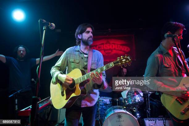 Trevor Nealon Ed Jurdi and Gordi Quist of Band of Heathens perform on stage at Rocksound on May 28 2017 in Barcelona Spain