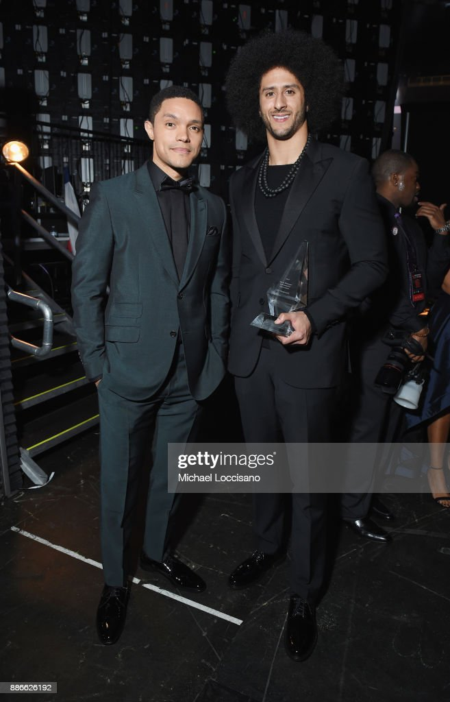 Trevor Noah and Colin Kaepernick attend SPORTS ILLUSTRATED 2017 Sportsperson of the Year Show on December 5, 2017 at Barclays Center in New York City. Tune in to NBCSN on December 8 at 8 p.m. ET or Univision Deportes Network on December 9 at 8 p.m. ET to watch the one hour SPORTS ILLUSTRATED Sportsperson of the Year special.