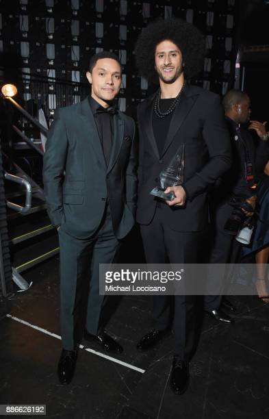 Trevor Noah and Colin Kaepernick attend SPORTS ILLUSTRATED 2017 Sportsperson of the Year Show on December 5 2017 at Barclays Center in New York City...