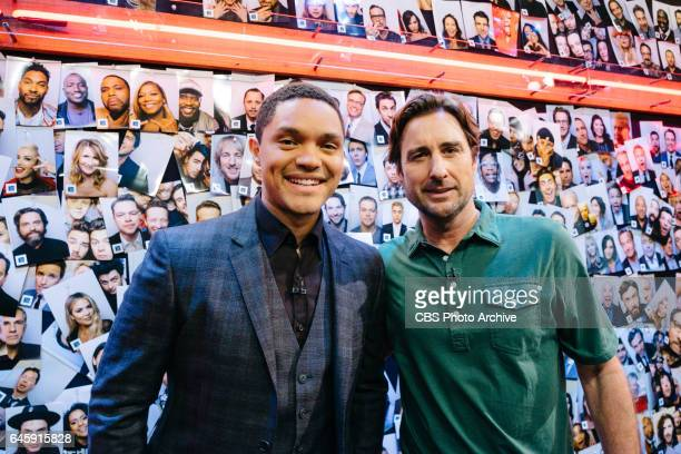 Trevor Noah and Luke Wilson backstage during 'The Late Late Show with James Corden' Tuesday February 21 2017 On The CBS Television Network