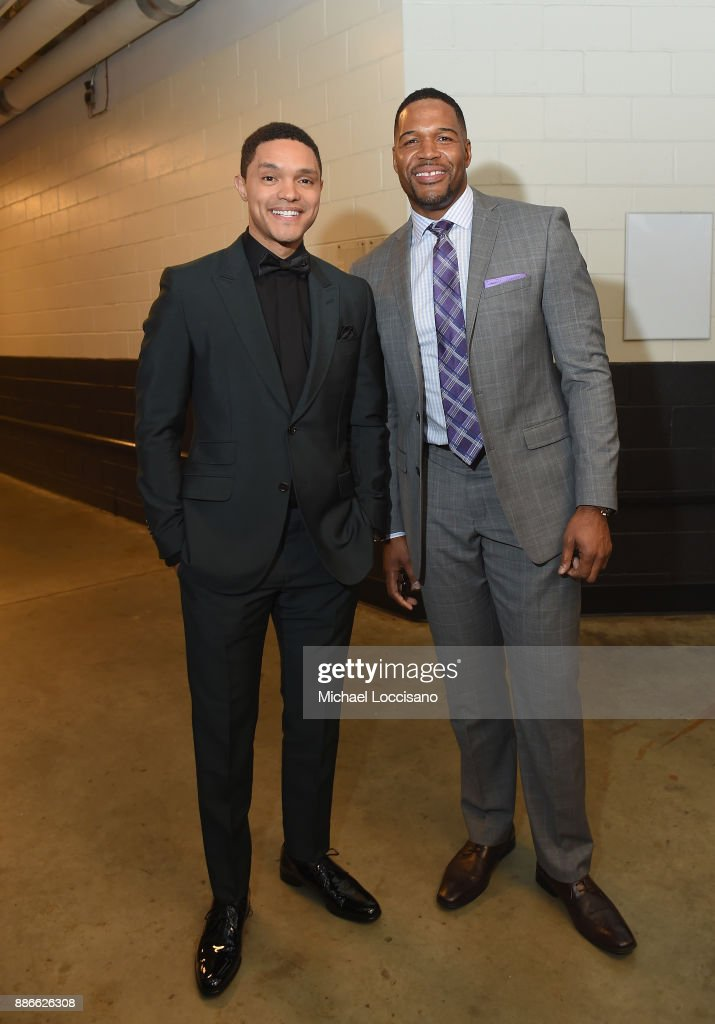 Trevor Noah and Michael Strahan attend SPORTS ILLUSTRATED 2017 Sportsperson of the Year Show on December 5, 2017 at Barclays Center in New York City. Tune in to NBCSN on December 8 at 8 p.m. ET or Univision Deportes Network on December 9 at 8 p.m. ET to watch the one hour SPORTS ILLUSTRATED Sportsperson of the Year special.