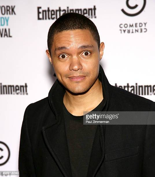 Trevor Noah attends Comedy Central's New York Comedy Festival Kickoff Party Celebration With Entertainment Weekly on November 12 2015 in New York City