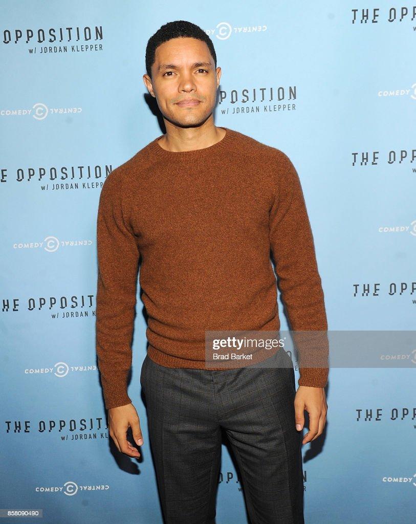 Trevor Noah attends Comedy Central's 'The Opposition W/ Jordan Klepper' Premiere Party at The Skylark on October 5, 2017 in New York City.
