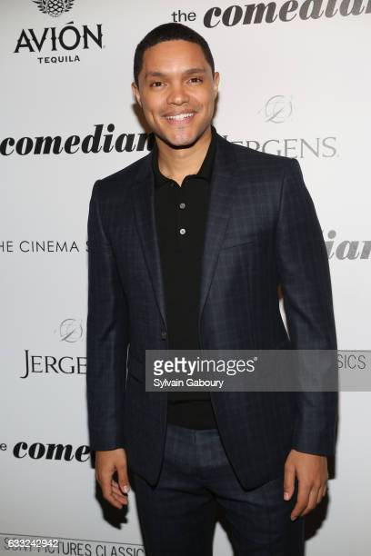 Trevor Noah attends The Cinema Society with Avion and Jergens Host a Screening of Sony Pictures Classics' 'The Comedian' on January 31 2017 in New...