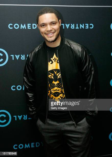 Trevor Noah attends the Comedy Central Roast of Steve Hofmeyer at the Lyric Theatre Gold Reef City on September 11 2012 in Johannesburg South Africa