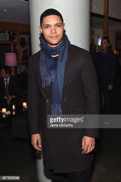 Trevor Noah attends the Paramount Pictures with The Cinema Society Svedka Host An After Party For 'Office Christmas Party' at Mr Purple at the Hotel...