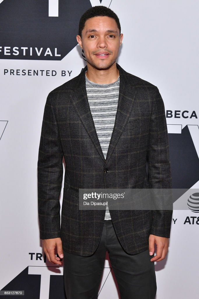 Trevor Noah attends the Tribeca TV Festival conversation with Trevor Noah and the writers of the Daily Show at Cinepolis Chelsea on September 24, 2017 in New York City.