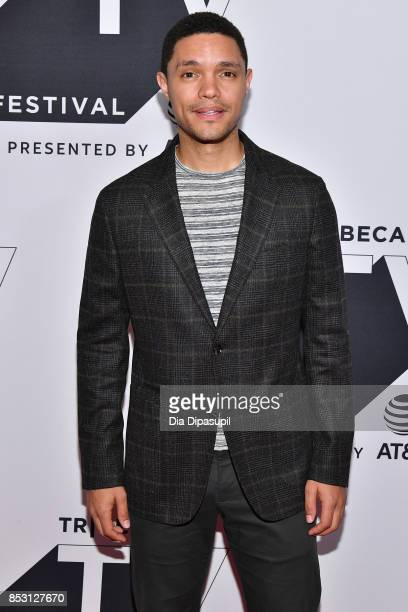 Trevor Noah attends the Tribeca TV Festival conversation with Trevor Noah and the writers of the Daily Show at Cinepolis Chelsea on September 24 2017...