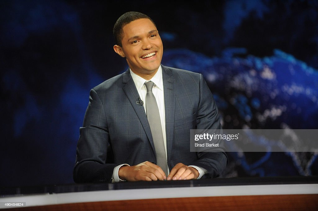 Trevor Noah hosts Comedy Central's 'The Daily Show with Trevor Noah' premiere on September 28, 2015 in New York City.