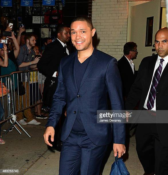 Trevor Noah leaves 'The Daily Show With Jon Stewart' at the Daily Show Building on August 6 2015 in New York City