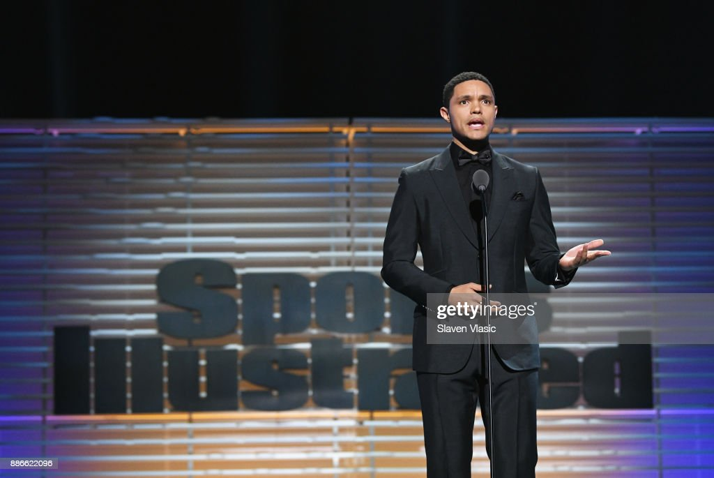 Trevor Noah presents the SI Muhammad Ali Legacy Award during SPORTS ILLUSTRATED 2017 Sportsperson of the Year Show on December 5, 2017 at Barclays Center in New York City. Tune in to NBCSN on December 8 at 8 p.m. ET or Univision Deportes Network on December 9 at 8 p.m. ET to watch the one hour SPORTS ILLUSTRATED Sportsperson of the Year special.